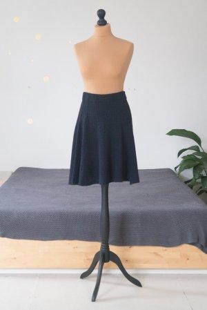 Mint&berry Knitted Skirt dark blue