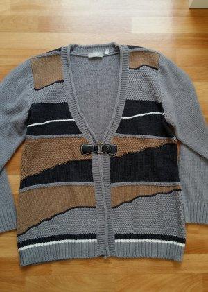 gestrickter Cardigan in grau-dunkel grau-braun/ Canda/ M