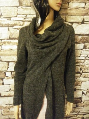 Only Knitted Wrap Cardigan grey-dark grey mixture fibre