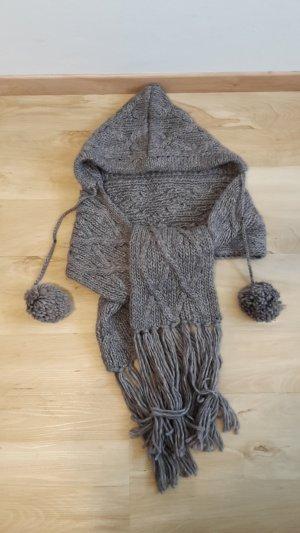 Codello Capuchon sjaal donkergrijs-bruin
