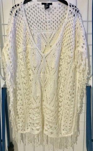 H&M Mesh Shirt white