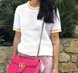 Knitted Top white-pink