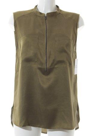 Gestuz ärmellose Bluse olivgrün Casual-Look