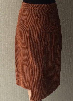 Gestuz Asymmetry Skirt russet-brown polyester
