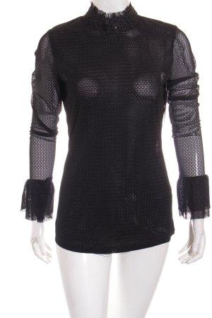 Gestuz Langarm-Bluse schwarz Elegant