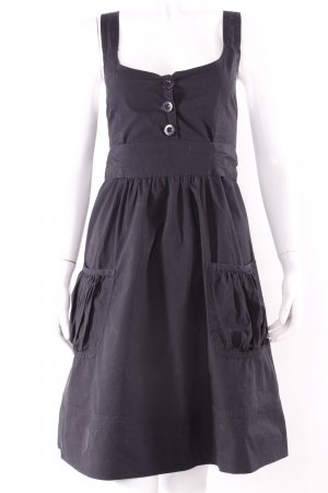 Gestuz Vestido de camuflaje negro