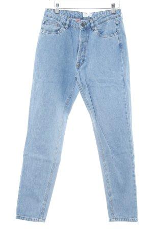 Gestuz High Waist Jeans blassblau-dunkelorange Casual-Look
