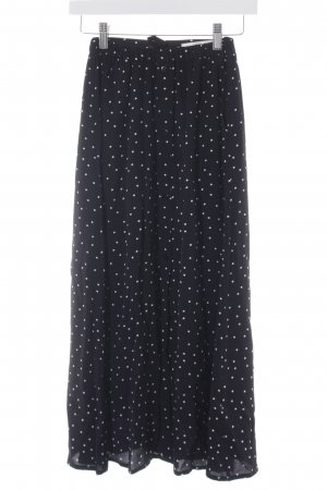 Gestuz High Waist Skirt black-white spot pattern casual look