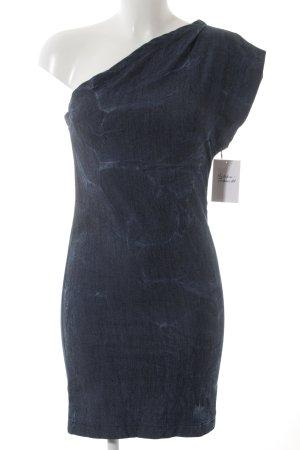 Gestuz Jeanskleid blau Batikmuster Casual-Look