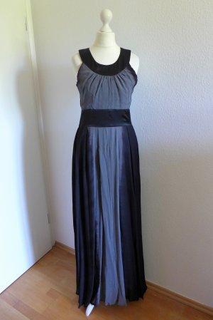 Gestuz Kleid Abendkleid Abiball Maxikleid Party lang grau schwarz Gr. 36 S