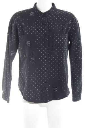 Gestuz Langarmhemd schwarz-weiß florales Muster Casual-Look