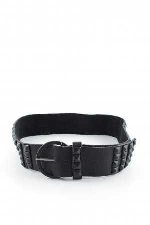 Gestuz Leather Belt black biker look