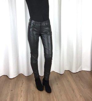 Gestuz Lederhose Echtleder Skinny Slim Fit Mid Waist Clean Chic Cosy Blogger Gr. 36