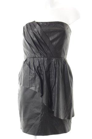Gestuz Leren jurk zwart leren uitstraling