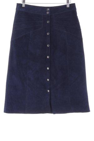 Gestuz Falda de cuero azul oscuro look casual