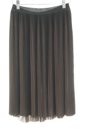 Gestuz Midirock schwarz-hellbraun Streifenmuster Elegant