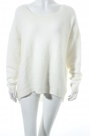 Gestuz Oversized Pullover wollweiß Kuschel-Optik
