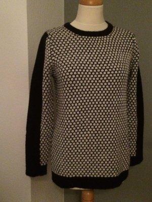 Gestuz Pullover lang schwarz -weiß Größe S