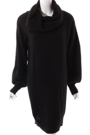Gestuz Pulloverkleid schwarz Kuschel-Optik