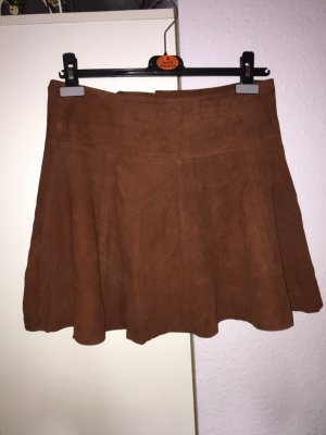 Gestuz Circle Skirt brown-cognac-coloured