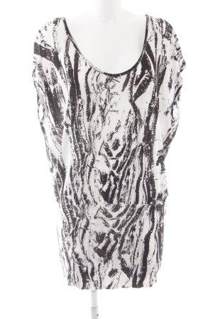 Gestuz Tunique blanc cassé-noir imprimé allover style simple