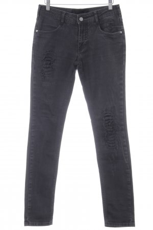 Gestuz Skinny Jeans schwarz Business-Look