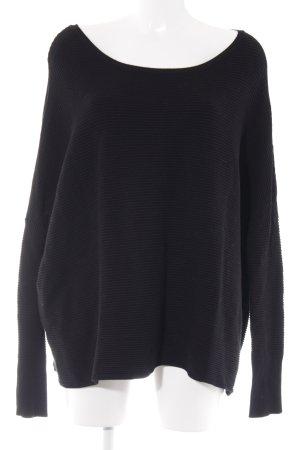Gestuz Jersey de punto negro elegante