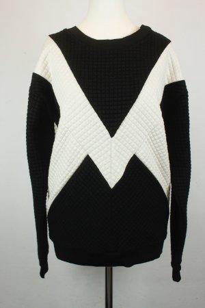 Gestuz Sweater Sweatshirt Gr. XS schwarz weiß NEU