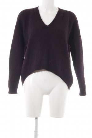 Gestuz V-Ausschnitt-Pullover braunviolett Casual-Look