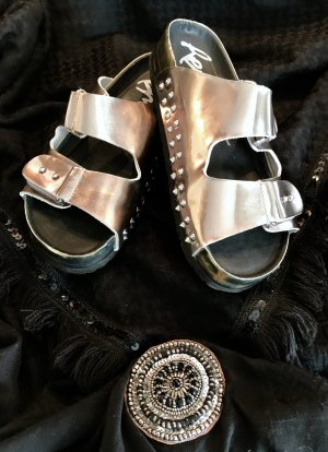 Replay Comfort Sandals light grey-black leather