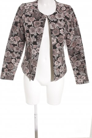 get it on Kurz-Blazer schwarz-altrosa florales Muster Elegant
