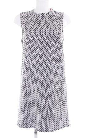 get it on Minikleid schwarz-weiß Zackenmuster schlichter Stil