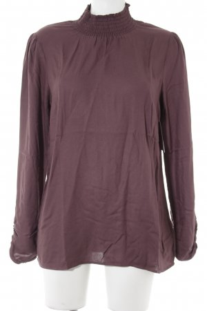 get it on Slip-over Blouse brown violet casual look