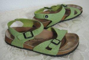Getragene Birkenstock Sandalen Größe 40 Grün Papillio