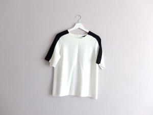 getragene Zara Woman Bluse Shirt Gr. M 38 weiß schwarz T-shirt