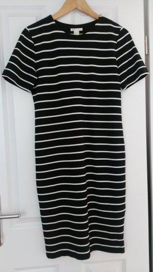 Getreiftes, enganliegendes Midi Kleid H&M Gr. M