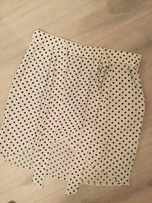 H&M Jupe portefeuille blanc-noir