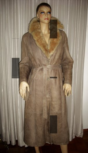 Cappotto in pelle cognac Pelle