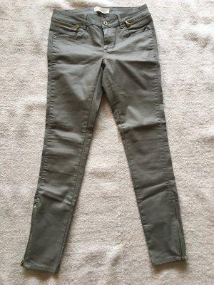 Gewachste Jeans Olive