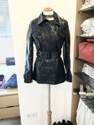 Gewachste Lackjacke von Exté by Versace schwarz NP 899,- EUR IT40 36 S