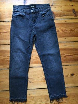 BDG Skinny jeans donkergrijs-antraciet Katoen
