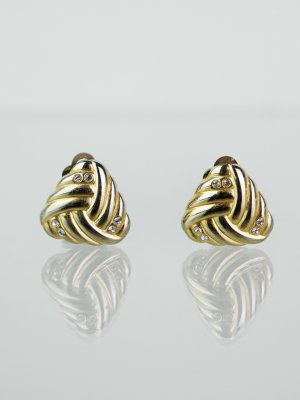 Earclip silver-colored-gold-colored metal