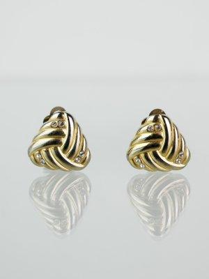 Oorclips zilver-goud Metaal