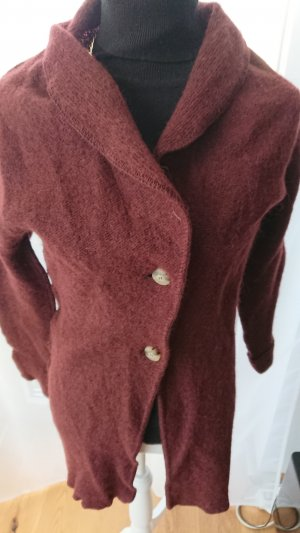 Chaqueta de lana burdeos
