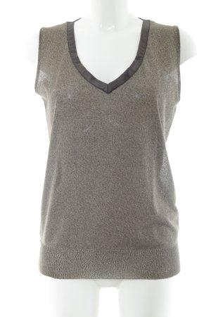 GF Ferré Blouse Top light grey flecked simple style