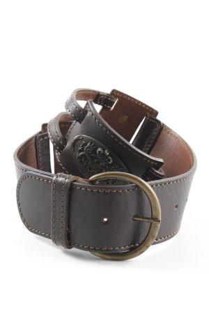 GF Ferré Cintura di pelle marrone scuro stile country