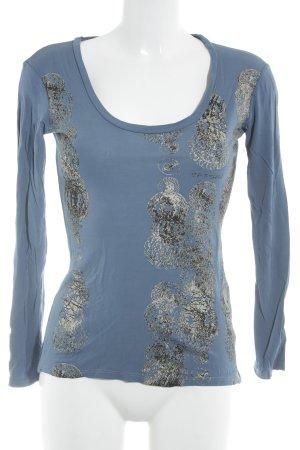 GF Ferré Print-Shirt kornblumenblau abstrakter Druck Casual-Look
