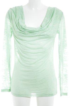 GF Ferré Camisa con cuello caído verde claro-verde pálido look casual