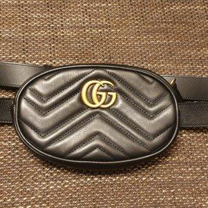 GG Gucci Marmont Gürteltasche aus Matelassé-Leder