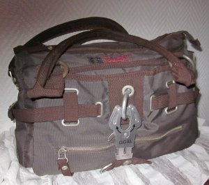 George Gina & Lucy Carry Bag dark brown-brown synthetic